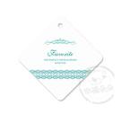 幸福朵朵*【禮物吊卡包裝吊牌-菱形經典蕾絲-零售-不含其它配件】婚禮小物.禮物裝飾.烘焙包裝