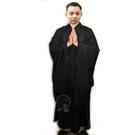 海青(黑色)附海青袋60號 身高180-181公分【十方佛教文物】