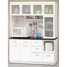 【森可家居】雅典娜5.2尺石面收納櫃 10CM943-1 白色 餐櫃 廚房櫃 碗盤碟櫃