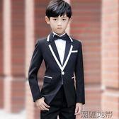 兒童西裝禮服男套裝花童禮服男童裝西裝男童小西服修身韓版【潮咖地帶】