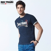 BigTrain夏日祭典情侶T男款-男-暗藍/白色