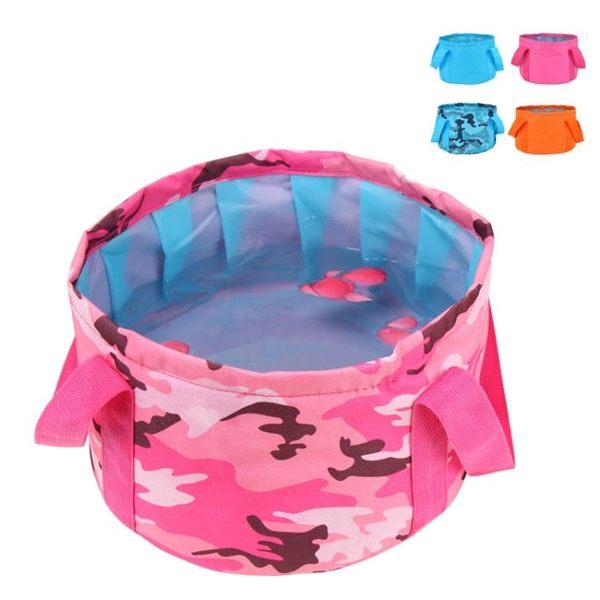 旅游收納折疊水盆 便攜式可裝熱水洗腳洗臉旅行神器盆折疊泡腳盆