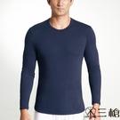 三槍牌 時尚經典台灣製舒適男長袖TG-HEAT發熱衣 2件組 丈青色