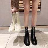 guidi倒靴前拉錬短靴夏季新款馬丁靴女英倫風百搭網紅瘦瘦靴 創意家居生活館