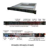 Lenovo ThinkSystem SR250 (7Y51S69G00) 1U機架式伺服器【Intel Xeon E-2244 / 8GB / RAID 530‑8i / 450W RPS】