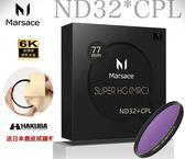 送日本鹿皮拭鏡布 Marsace SHG ND32 *CPL 偏光鏡 減光鏡 77mm 高穿透高精度 二合一環型偏光鏡