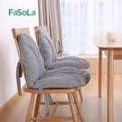 連體坐墊靠墊背女宿舍一體椅子墊冬季加厚保...