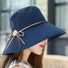 帽子女夏天戶外出游防紫外線涼帽可折疊遮陽帽大沿百搭防曬太陽帽『小淇嚴選』