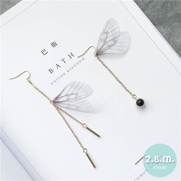 耳環 手作蝴蝶翅膀(單只)耳環 A3014