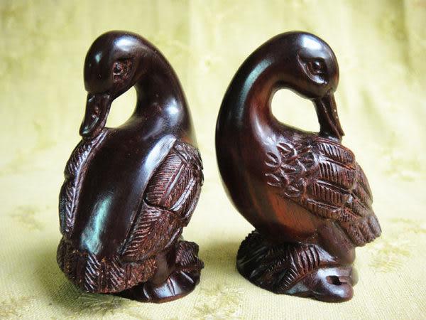 小葉紫檀手玩 小天鵝雕件 小鴨子(1件)