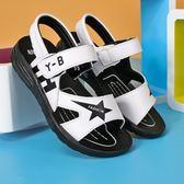 夏季2018新款時尚牛皮防滑兒童沙灘中大童小學生涼鞋 js910『科炫3C』