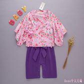 中大尺碼兒童和服 寶寶家居服棉質日式和服套裝長袖款幼兒男女連體衣 DR9241【Rose中大尺碼】
