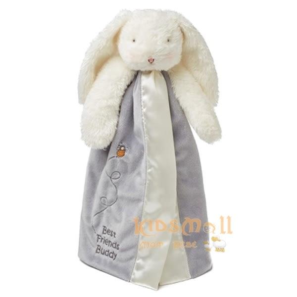 美國Bunnies By The Bay海灣兔,灰兔玩偶巾/手偶巾,Bunny Buddy Blanket-Classic Gray
