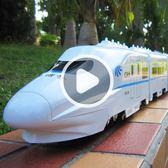 火車玩具電動仿真大號高鐵動車模型遙控軌道車兒童玩具男孩igo