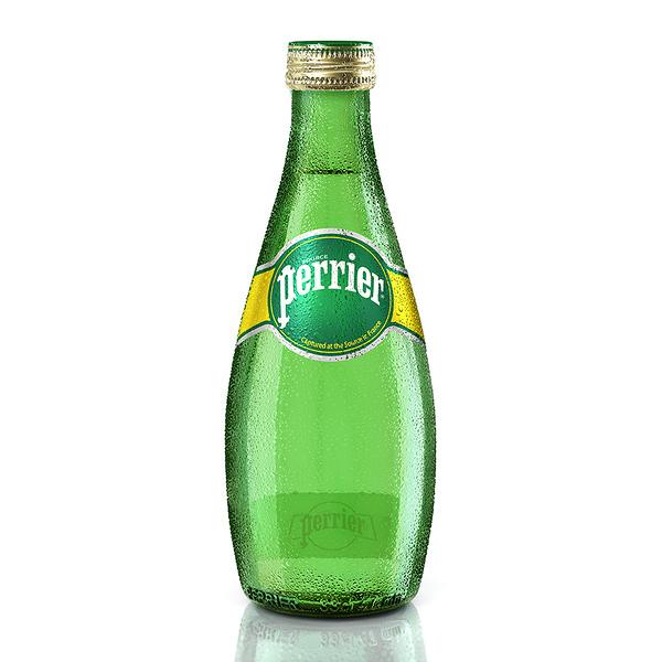 【Perrier沛綠雅】氣泡天然礦泉水330ml/玻璃罐(24入/箱)
