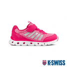 K-SWISS X Lite Trainer VLC舒適運動鞋-童-莓紅/銀/白
