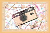 ONE SHOT 底片相機 麥穗金 傻瓜相機 傳統膠捲 相機 復古風格 熱銷商品 可重覆使用 可傑