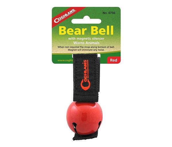 丹大戶外【Coghlans】加拿大 COLORED BEAR BELL WITH MAGNETIC SILENCER 熊鈴(紅) 0756