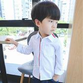 紳士素面百搭襯衫 童裝 長袖上衣 襯衫