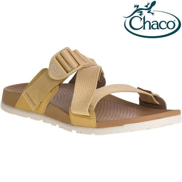 『VENUM旗艦店』Chaco Lowdown Slide 女款休閒拖鞋 CH-LSW01 HG02 咖哩黃