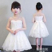 女童小仙女洋裝夏裝兒童禮服公主裙蓬蓬紗春秋小女孩裙子白紗裙連身裙