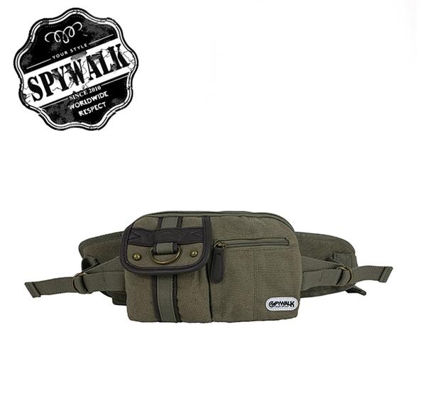 SPYWALK 多夾層素色簡單腰包 NO:2475