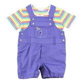 【愛的世界】純棉動物園兩件式吊帶褲套裝/6個月~1歲-台灣製- ★幼服推薦