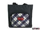餐袋 UnMe 輕巧 格紋 台灣製 可手提 可肩背 英倫風 便當袋 餐袋 3118