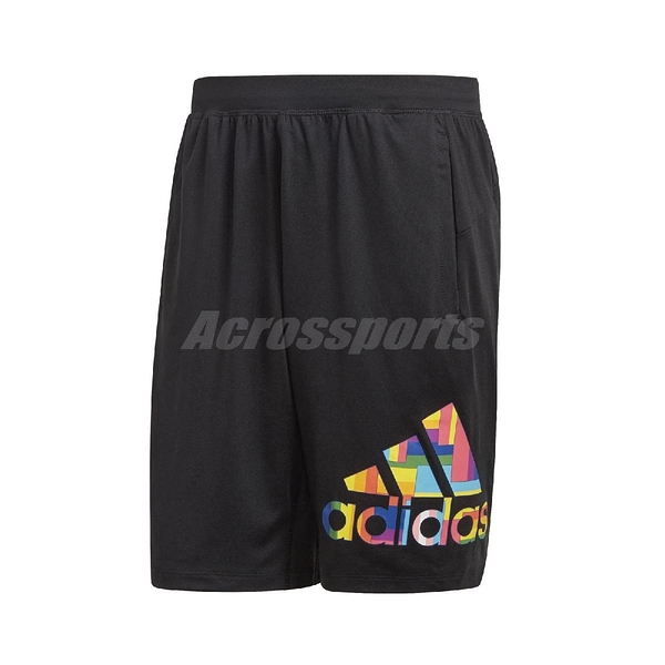 adidas 短褲 Pride 4KRFT Shorts 黑 彩色 男款 膝上 運動 訓練 【ACS】 GM3528