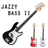 【奇歌】JAZZY ST 二代電貝斯+30瓦BASS音箱,鋼琴烤漆+渾厚琴音+流線型琴頭,送厚棉琴袋+全配