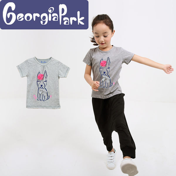 短袖 上衣 t恤 純棉 男女童 Georgia Park 恐龍 食物 BOY 斑馬 狗 象 貓 兔 猴 獨角獸 蝴蝶