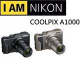 名揚數位 (分12/24期0利率) NIKON COOLPIX A1000  35X光學變焦 公司貨 登錄送EN-EL12原廠電池(08/31)止