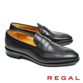 【REGAL】英倫風紳士樂福鞋 黑色(11HR-BL)