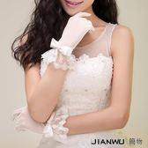 蕾絲花邊短款白色蝴蝶結春季配件
