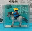 【震撼精品百貨】日本版玩具~發條騎馬玩具-黃帽#99040