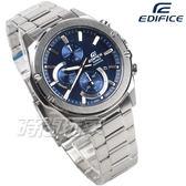 CASIO卡西歐 EDIFICE EFR-S567D-2A 輕薄 藍寶石水晶 不銹鋼 日期 男錶 藍色 EFR-S567D-2AVUDF