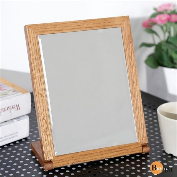 工業風 沖孔板 鐵力士《百嘉美》典雅實木長型桌鏡 壁鏡 穿衣鏡