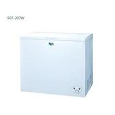 SANLUX 台灣三洋 207公升臥式冷凍櫃 SCF-207W ◆全機鐵殼防火設計
