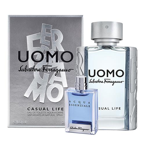 【Salvatore Ferragamo】UOMO CASUAL LIFE 峰逸 男性淡香水 100ml(搭贈 蔚藍之水小香)