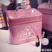 化妝包女便攜大容量網紅INS風超火小號旅行品收納包盒簡約箱手提   (橙子精品)