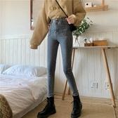 牛仔褲 牛仔褲女2020秋冬新款韓版修身顯瘦小腳鉛筆褲網紅高腰九分褲子潮