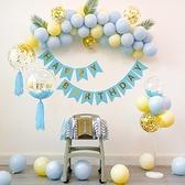生日兒童寶寶男女一周歲百日宴100天派對裝飾場景布置氣球背景牆 設計師生活