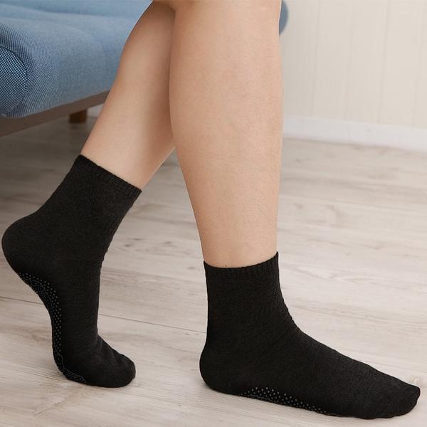 【源之氣】竹炭防滑短統襪/女(黑/灰)二色可選 6雙組 RM-30001