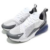 Nike 慢跑鞋 Air Max 270 白 灰 大氣墊 大型後跟氣墊 運動鞋 男鞋【PUMP306】 AH8050-107