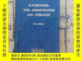 二手書博民逛書店playgrounds;their罕見administratio
