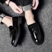 皮鞋—夏季男士韓版潮流豆豆皮鞋英倫百搭休閒鞋男鞋子社會小夥潮鞋 korea時尚記
