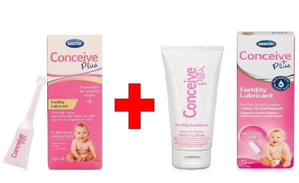 [微友] 法國SASMAR Conceive Plus 助孕潤滑液 潤滑劑 4g *8支(單次使用) + 75ml 各一盒