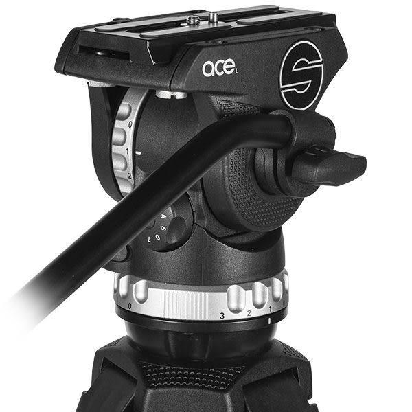 AOKA TK-PRO 424C 四號系統碳纖維三腳架 + Sachtler 沙雀 Ace L 德國油壓攝錄影雲台 套組 總代理公司貨