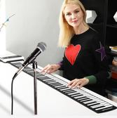 手卷電子琴  61鍵便攜可折疊加厚電子琴成人初學者學生用鍵盤琴  喵可可