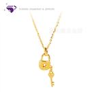 【元大珠寶】『心鎖』黃金項鍊、純金套鍊-純金9999國家標準